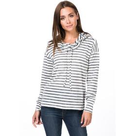 super.natural Funnel Hoodie Printed Damen fresh white/navy blazer fine stripe print